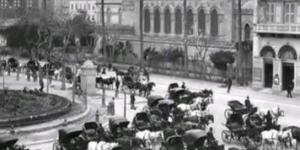 موقف الحناطير في ميدان محمد علي عام 1890