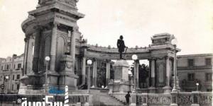 الخديوي إسماعيل....... لقطات نادرة للتمثال بمكانه الأصلي بالنصب التذكاري للجندي المجهول بالإسكندرية