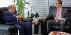 مدير مكتبة الإسكندرية يستقبل السفير الألماني بالقاهرة