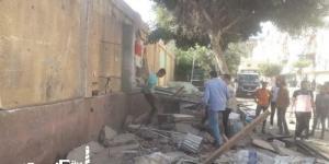 إزالة الأكشاك بمحيط المدارس في حي غرب الإسكندرية
