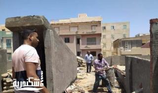 حملات لإزالة أعمال البناء المخالف وذلك لمنع أي مخالفات خلال العطلات الرسمية