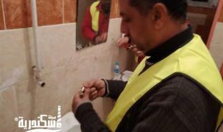 مياه الإسكندرية...ركيب وبيع نحو 366 ألف قطعة موفرة للمياه، على صعيد المحافظة