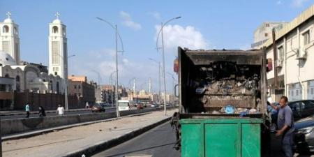 عودة مسلسل سرقه حاويات جمع القمامة من شوارع الإسكندرية : سرقة أكثر من 30 صندوق خلال أقل من أسبوعين