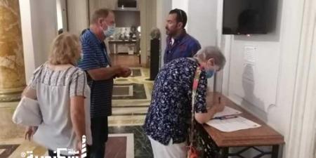 متحف الإسكندرية القومي  يستطلع رأى السائحين الأجانب