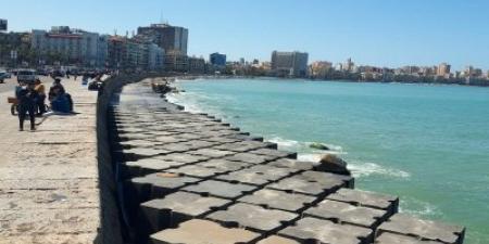 حماية الشواطئ بالإسكندرية...إنهاء أعمال حماية شواطئ الإسكندرية بمنطقة محطة الرمل والمنشية