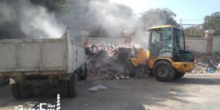 رفع 61 ألف طن قمامة صلبة وطبية من شوارع الإسكندرية في 72 ساعة