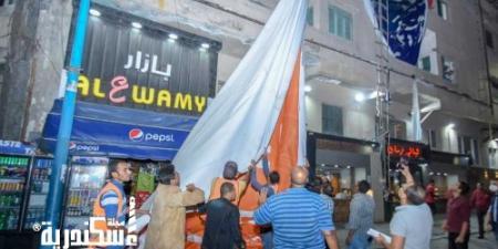 محافظ الإسكندرية يقود حملة لإزالة الإعلانات المخالفة بطريق الكورنيش