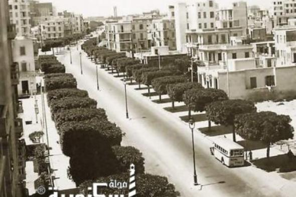شارع ابو قير بالإسكندريه عام ١٩٣٩