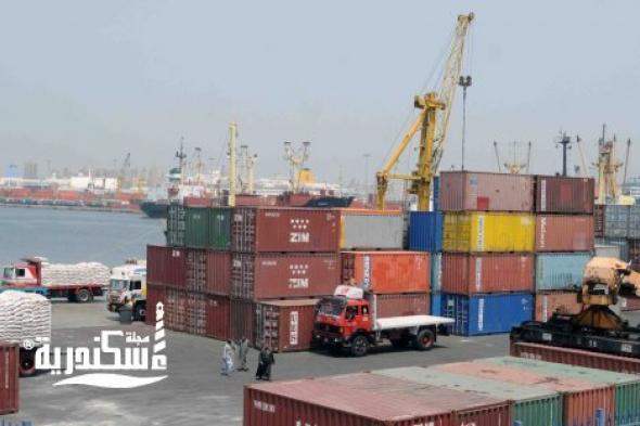 ميناء الإسكندرية....إجمالي البضائع المتداولة بميناءي الإسكندرية والدخيلة 147 ألف