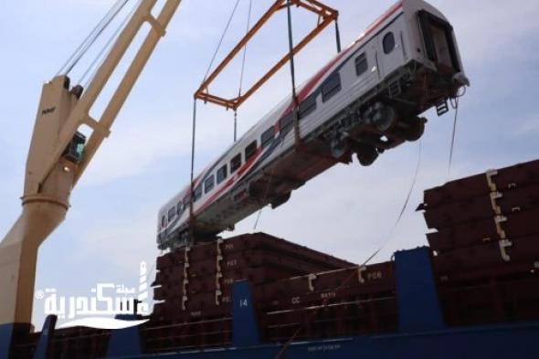 وصول 52 عربة سكة حديد جديدة من روسيا إلى ميناء الإسكندرية