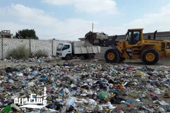 حملة مكبرة بالتنسيق مع المركزية بالمحافظةو نهضة مصر لرفع المخلفات والأتربة بحي غرب