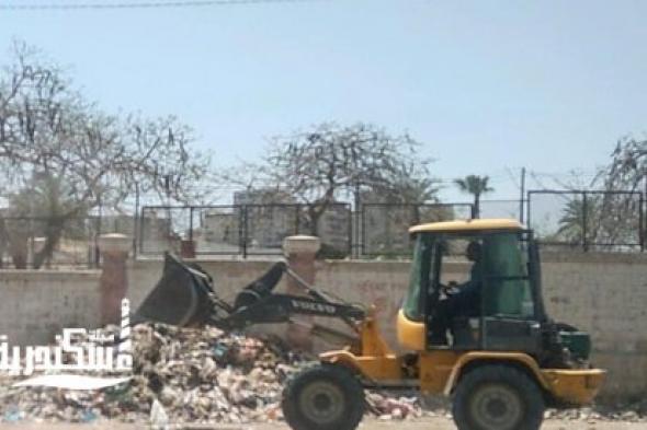رفع 20 حالة إشغال طريق في حملة بشوارع حي وسط