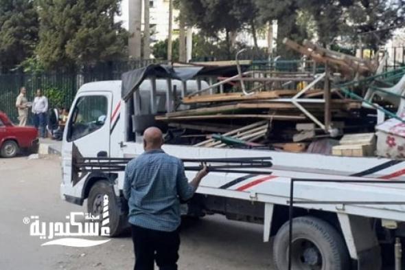 حملة مكبرة لإزالة الإشغالات بعدد من شوارع حي شرق