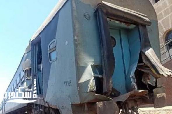 نيابة شرق الإسكندرية عن حادث القطار ...ساق مساعد الجرار اصطدمت بمقبض السرعة