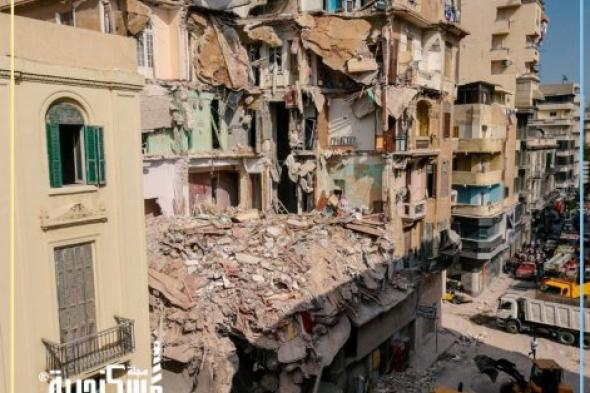الحماية المدنية بالإسكندرية...انتشال الضحية الرابعة من أسفل عقار العطارين