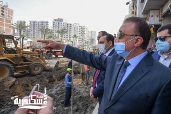 محافظ الإسكندرية....بتكلفة 20 مليونا  الانتهاء من 60% من أعمال تطوير طريق مصطفى كامل الرئيسي بالمنتزه