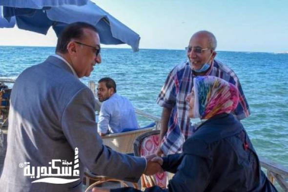 جولة تفقدية لمحافظ الإسكندرية على طول الكورنيش لمتابعة استعدادات استقبال عيد الأضحى المبارك