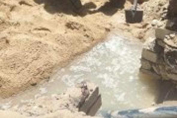 حي المنتزه ثان...إصلاح هبوط أرضي ناتج عن كسر في ماسورة مياه رئيسية بشارع عرامة