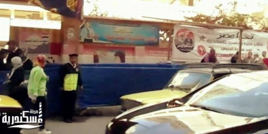 الإرهاب لم يمنع أهالى الإسكندرية من الإدلاء بأصواتهم فى أقرب مقر إنتخابى لمكان الحادث الإرهابى الأخير
