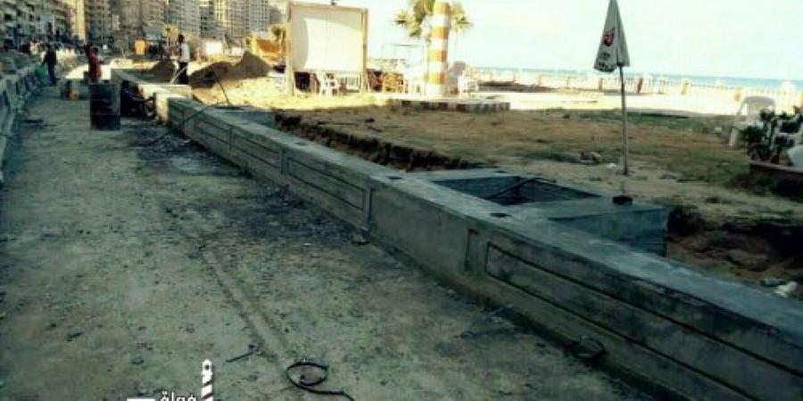 إنشاء ممشى رياضي بطريق الكورنيش فى حى منتزه ثان بالإسكندرية