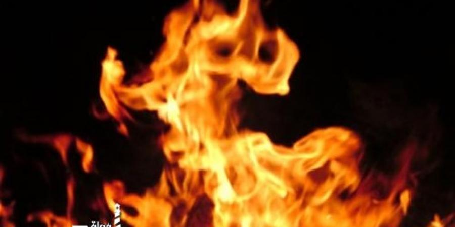 عاطل يشعل النيران أمام شقة عامل بمنطقة القبارى فى الإسكندرية