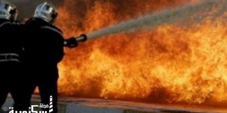قوات الحماية المدنية بالإسكندرية تسيطر على حريق بمخزن قطع غيار سيارات