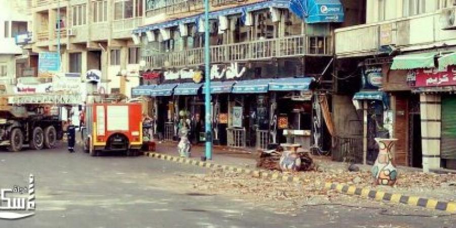 تفاصيل حادث سقوط جزء من سور سطح عقار بمنطقة ستانلي الإسكندرية مما تسبب فى وفاة مواطن