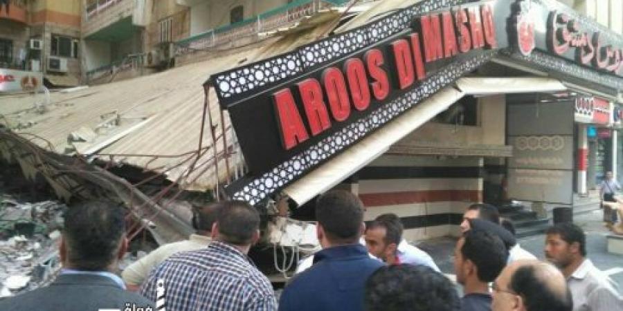 حملة لرفع الإشغالات فى ميدان المندرة بحري بالإسكندرية