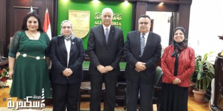 اتفاقية تعاون بين جامعة الاسكندرية ومدينة الابحاث العلمية ببرج العرب