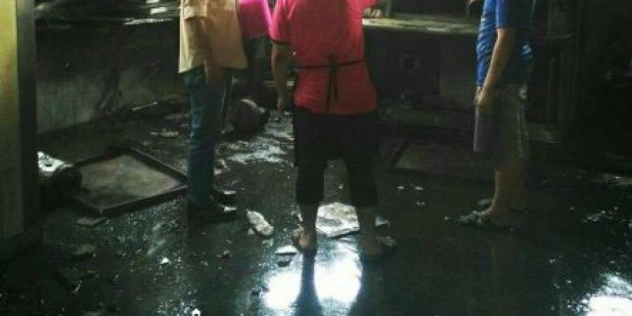 نشوب حريق فى مصنع حلويات بالطريق الدولي نتيجة تسرب وقود من أحد التنكات الخاصة بتشغيل الفرن