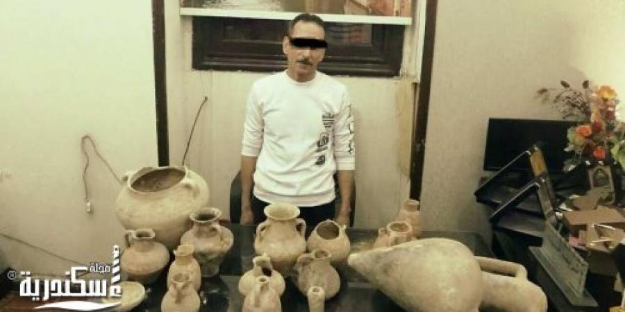 ضبط حداد قام بالتنقيب والإستيلاء على آثار بالإسكندرية