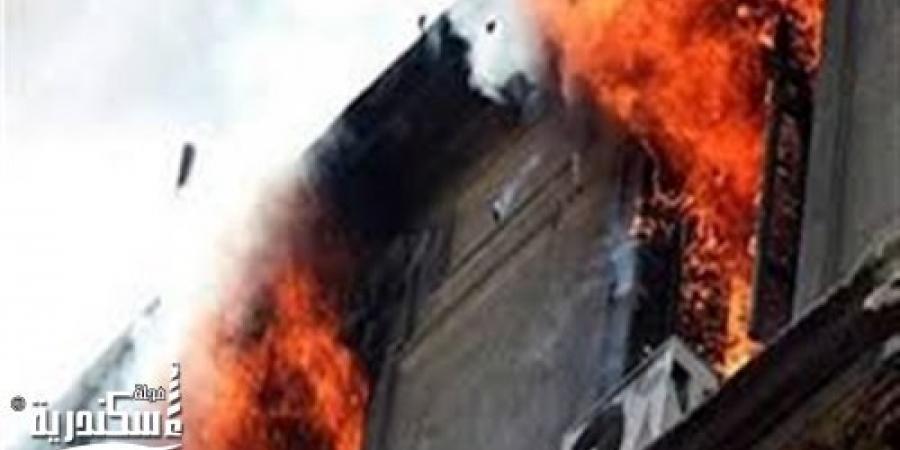 نشوب حريق بشقة فى برج الصفا والمروة بالإسكندرية