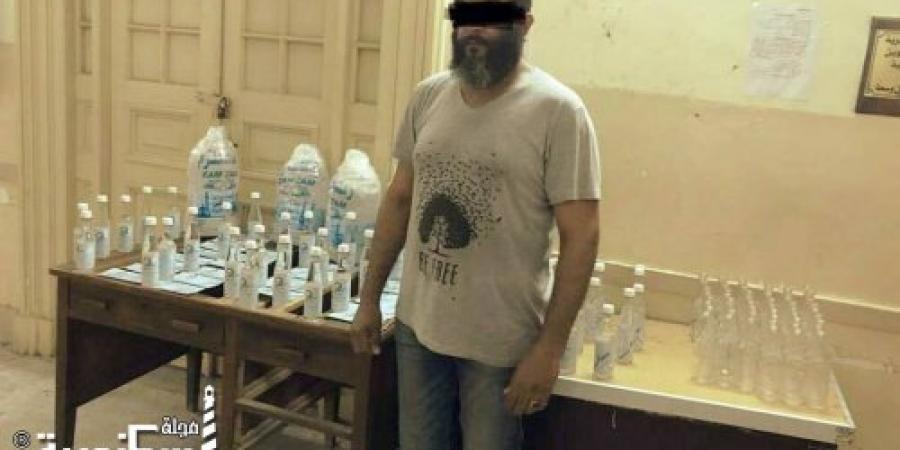 ضبط  تاجر يبيع عبوات مياه مغشوشة مدون عليها ماء زمزم ويقوم بطرحها فى أسواق الإسكندرية