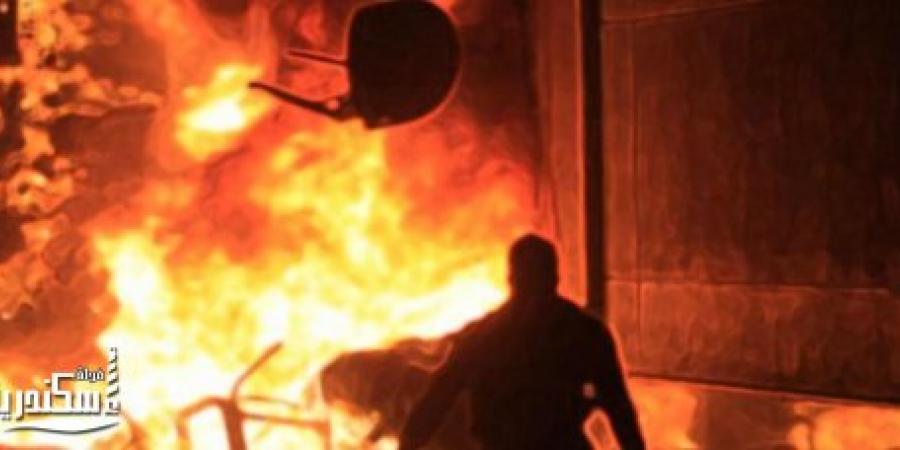 نشوب حريق بشقة فى مساكن شمال المتراس بالإسكندرية