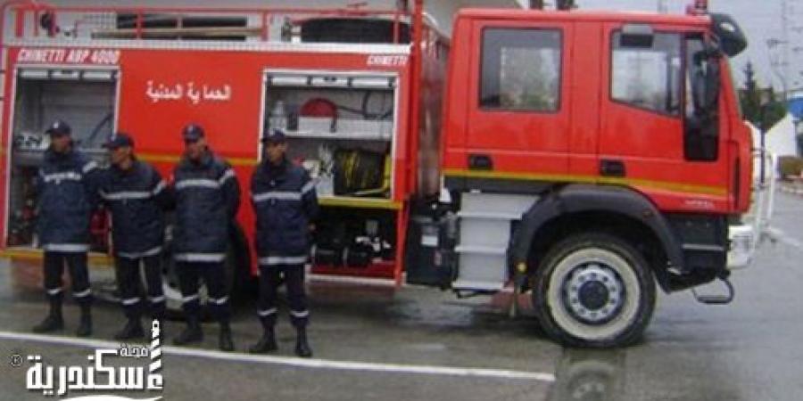 قوات الحماية المدنية تسيطر على حريق بمول تجارى فى منطقة المندرة بالإسكندرية