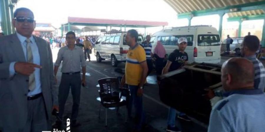 حملة للقضاء على الإشغالات بالموقف الجديد فى الإسكندرية
