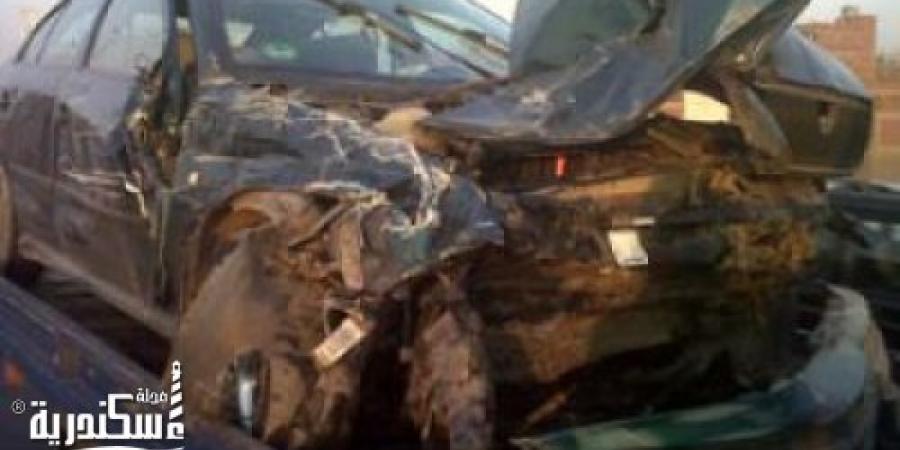 وقوع حادث تصادم ومصابين بطريق إسكندرية الساحلي منطقة الكيلو 57 - تجاه مطروح