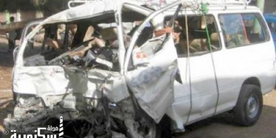 وقوع حادث تصادم أسفر عن مصابين بالطريق الساحلي منطقة الكيلو 53 - تجاه إسكندرية
