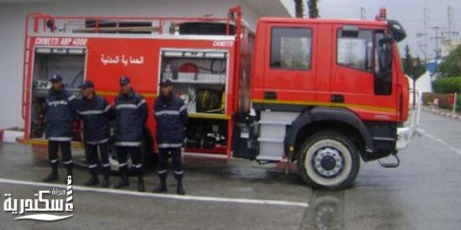 الحماية المدنية بالإسكندرية تسيطر على تسرب سولار من خط أنابيب بترول بمنطقة عزبة الشيخ