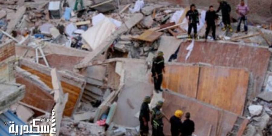 سقوط أجزاء من عقار بمنطقة كليوباترا في الإسكندرية