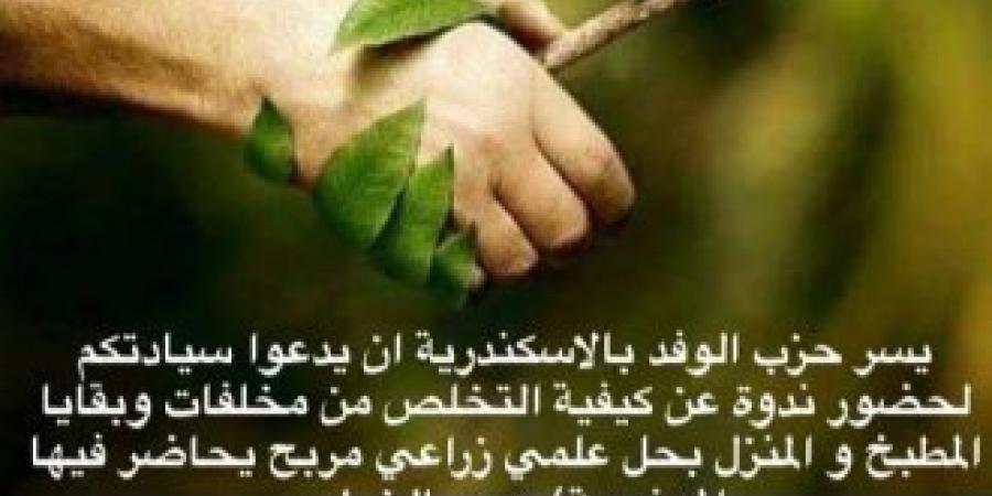"""""""مش هنسيبها صحراء"""" بحزب الوفد بالإسكندرية"""