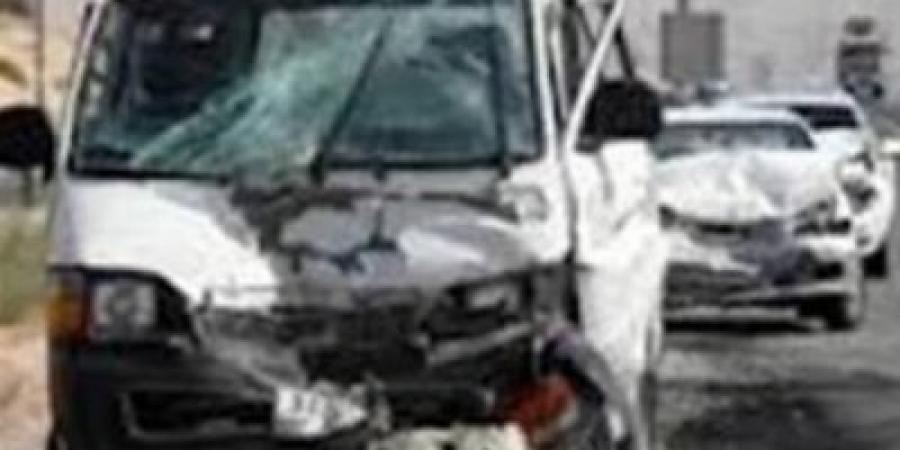 مصرع شخص في تصادم ٩ سيارات بالطريق الصحراوي منطقة الكيلو ٢٩ إتجاه إسكندرية