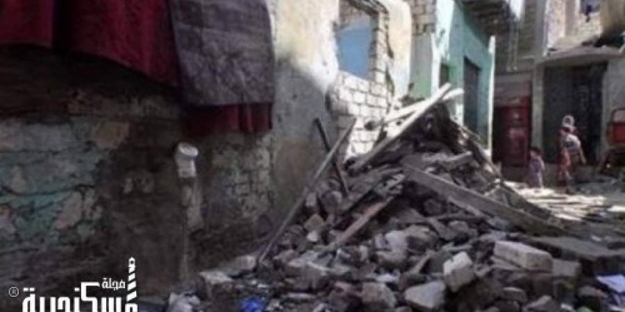 سقوط نجار من أعلي عقار تحت الإنشاء بمنطقة مأوي القباري في الإسكندرية