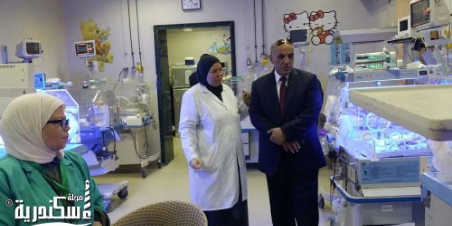 زيارة وكيل وزارة الصحة بالإسكندرية  لمستشفى رأس التين العام ومستشفى الانفوشى للأطفال أول ايام عيد الأضحى المبارك