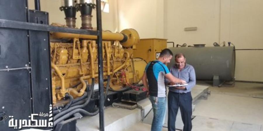 مدير إدارة المرافق بحي عامرية أول في الإسكندرية يتفقد محطات الصرف الصحي