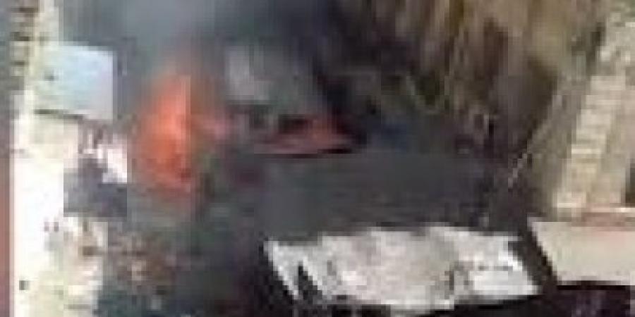 الحماية المدنية تسيطر على حريق شارع السبع بنات بالمنشية