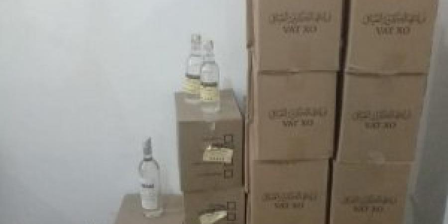 """أمن الإسكندرية يتمكن من ضبط عدد """" 1356 """" عبوه من الخمور مجهولة المصدر"""