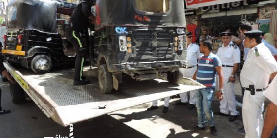 حملة أمنية مكثفة بمنطقة باكوس وشارعي السوق ومصطفي كامل بالإسكندرية