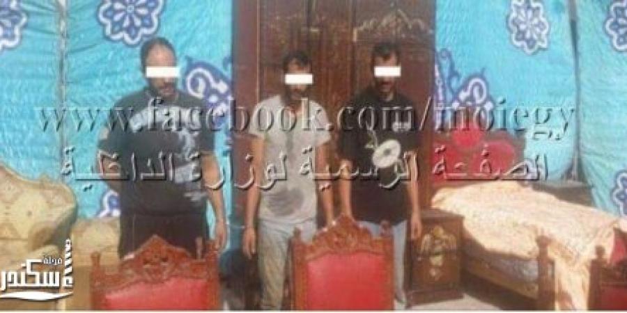 أمن الإسكندرية يتمكن من ضبط عناصر تشكيل عصابي تخصص في سرقة المساكن