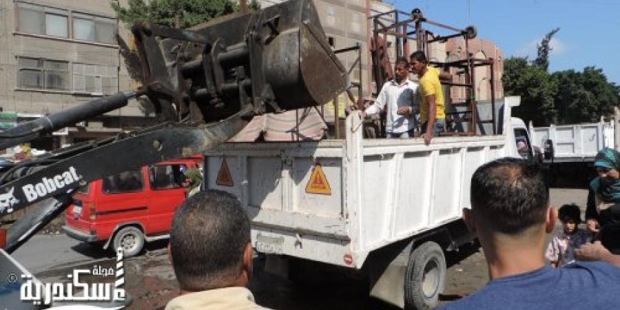 حملة أمنية مكبرة بمنطقتي البيطاش والهانوفيل في الإسكندرية